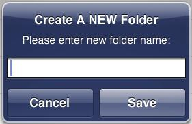 You can also tap Add Folder to create a new folder.