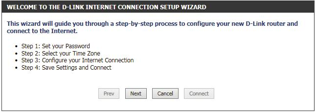 Internet Connection Setup Wizard When configuring the router for the first time, we recommend that you click use the Internet Connection Setup Wizard, and follow the