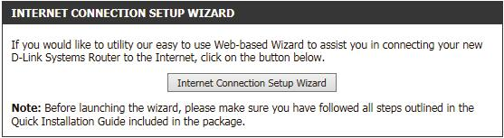 Welcome: This wizard will guide you through a step-by-step process to configure your new D-Link router and connect to the Internet. Click Next to continue.
