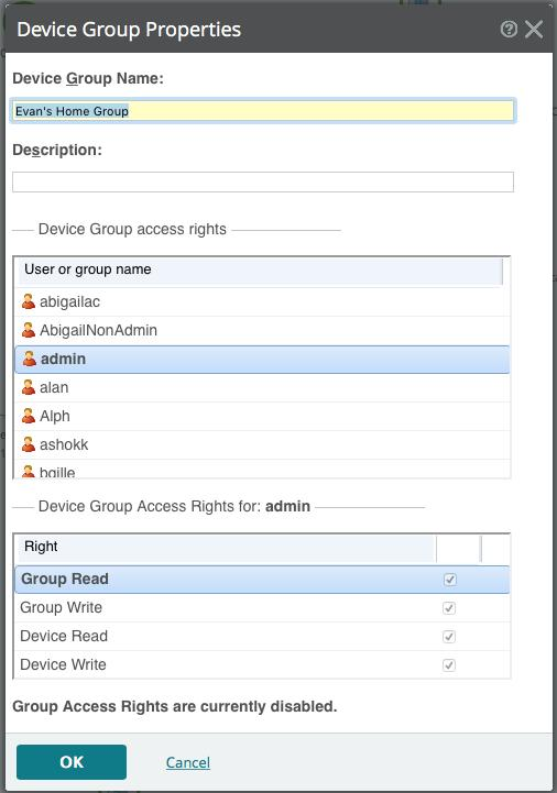 list. Group-level reports are not affected by group access rights but are affected by user rights.