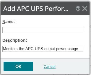 Hardware APC UPS The APC UPS monitor collects statistical output power usage information and graphs APC UPS power utilization over time.