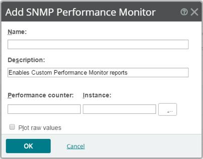 Network Management SNMP The Simple Network Management Protocol (SNMP) monitor accesses SNMPsupported network devices and graphs performance output. Performance counter/instance.