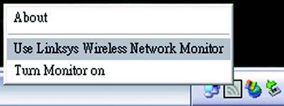 If the Wireless Network Monitor is enabled, then the icon will be green. If the Wireless Network Monitor is disabled or the Adapter is not connected, then the icon will be gray.