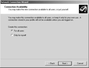 Section 2 Advanced Setup Accessing the Voice Mail from a Remote Location Creating a Dial-Up Connection (cont d) You