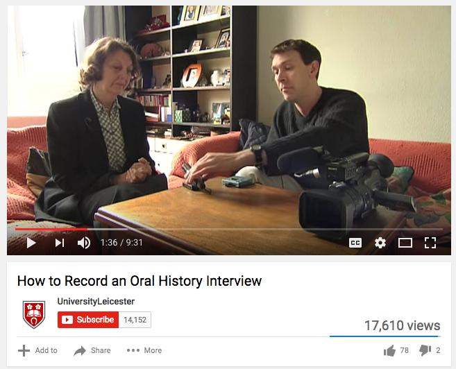 HOW TO RECORD AN ORAL HISTORY INTERVIEW