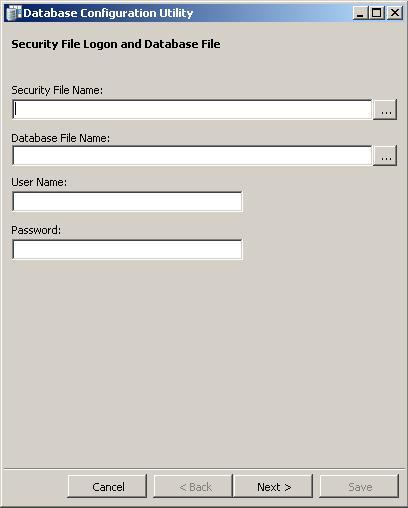 To reconfigure the security connection file: 1. Open the ibase 8 Database Configuration tool.