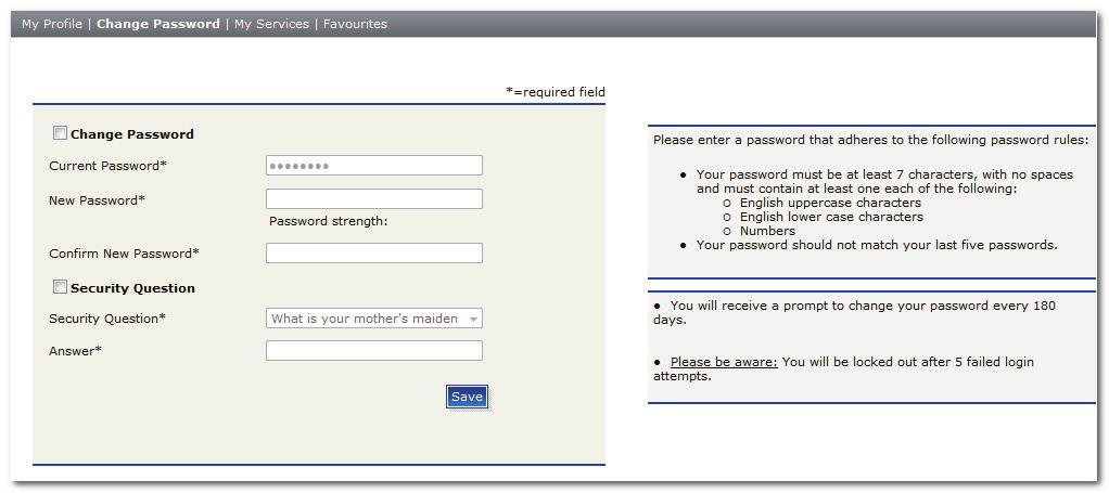 Managing Your TMC Account Modifying Your Password The first time you log in to TMC after registration, you are prompted to change your password and select a security hint question.