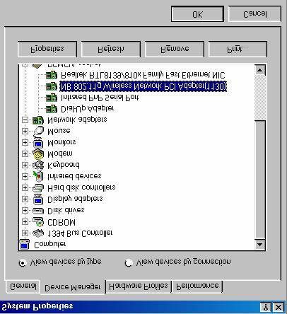 Step 6: Open Control Panel/System/Device Manager, and check Network Adapters to see if any exclamation mark appears next to the IEEE802.
