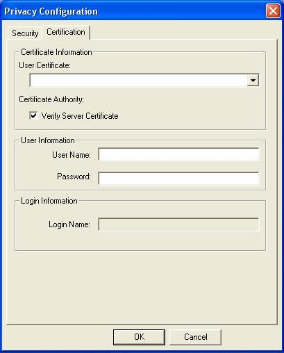 You only need to enter User Name and Password in the User information filed to authenticate (Figure 4.3).