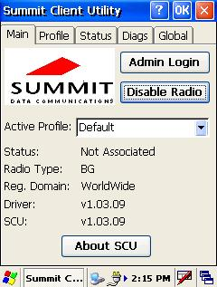 Using the Summit Client Utility Software Summit Client Utility (SCU) provides a graphical user interface (GUI) for access to all of its functions.