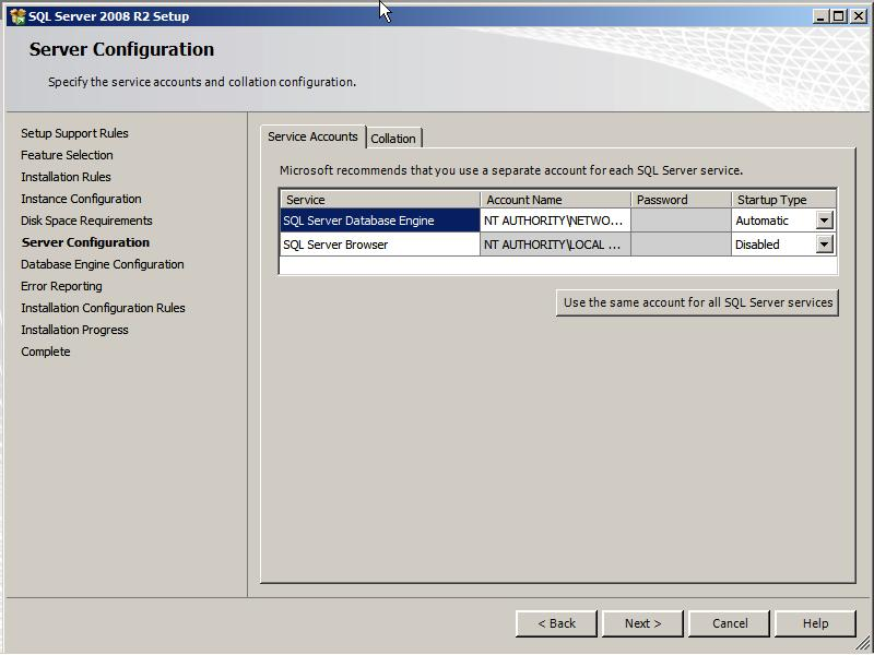 "Select ""Mixed Mode (SQL Server authentication and Windows"
