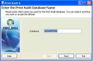 "Step 16: Select Password for PrintAudit User (SQL Server Only) Print Audit 6 automatically creates a user named ""PrintAudit"" and gives that user permissions to the Print Audit 6 database."