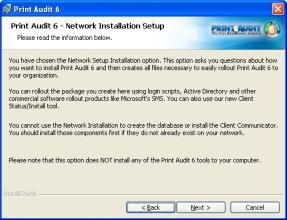 "Step 3: Installation Type Select the ""Create a Network Install"" installation type. Press ""Next"" to continue."