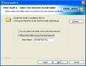 "Step 5: Select Network Install Folder Location Files created during the ""Create a Network Install"" process must be placed into a folder."