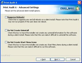 Step 9: Advanced Settings There are advanced settings that can be set during network installation.