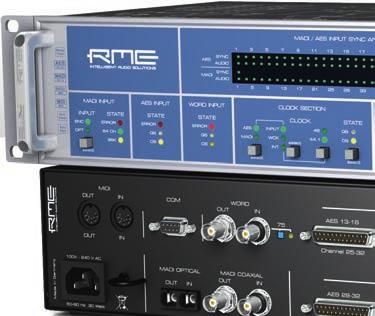 ADI-6432 ADI-6432 R Bidirectional 64-Channel 192 khz MADI <> AES/EBU Format Converter Converter ADI-6432R: The RME ADI-6432R is identical to the