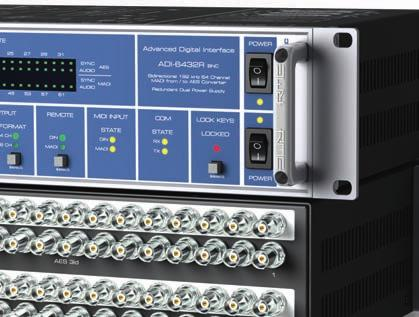 Based on RME s highly successful bidirectional MADI-AES/AES-MADI converter ADI-6432, the newly developed ADI-6432R BNC offers broadcasters ease of integration and fail-safe