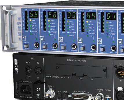 Micstasy 8-Channel full range 192 khz Preamp / AD Converter Preamp Optional RME i64 MADI card available Micstasy is an 8-channel high end mic/line preamp and AD-converter combining typical RME