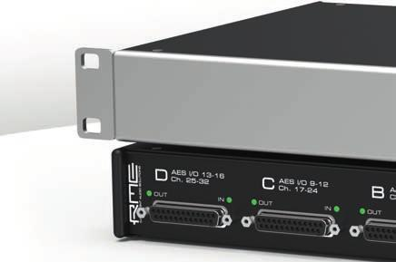 Converter 32-Channel AES/EBU to MADI Twisted Pair Converter AES3 Converter 4 AES3 D-sub connectors, configurable as: 32 audio inputs and