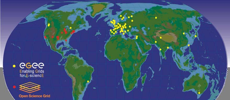 The Grid used by CERN and its partners Today: >200 sites in 30 countries with >22,000 PCs