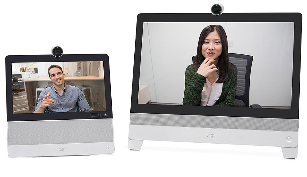 By 2020, we expect the use of video conferencing at work to increase by 30 to 50 percent. In just minutes, users can unpack any of the Cisco DX Series devices, plug them in, and launch a video call.