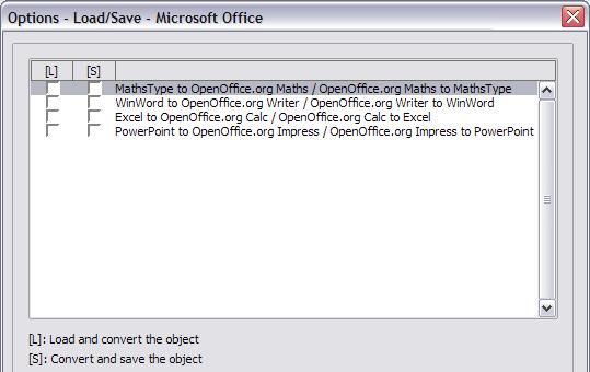 If you choose Save original Basic code, the macros will not work in OpenOffice.org but are retained if you save the file into Microsoft Office format.