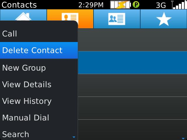 12. Editing/Deleting PTT Contacts Please note that contacts set up by an administrator cannot be deleted or edited. a. Select a contact from the contacts list.