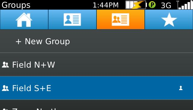 13. Editing/Deleting PTT Groups a. Go to the Groups screen and select the group you want to edit or delete.