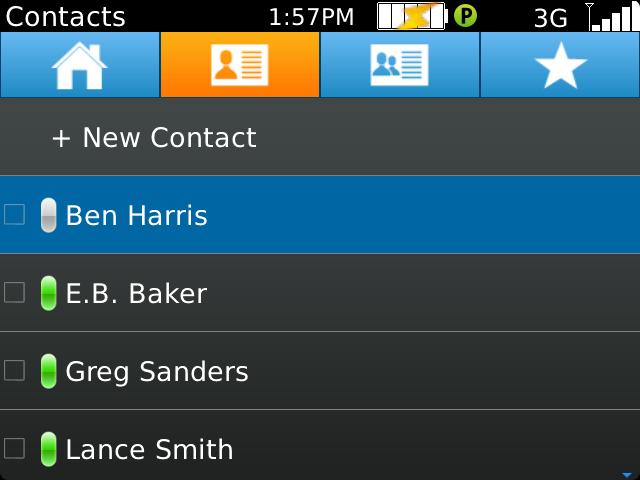 The following instructions illustrate how to add contacts manually. From the Contacts screen: a.