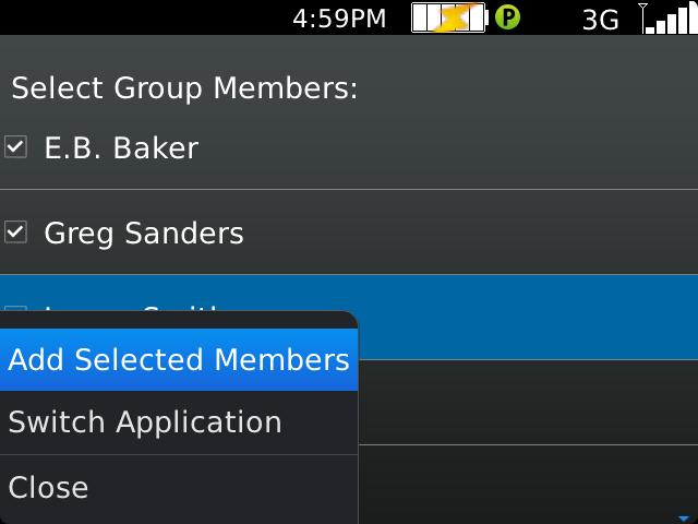 group manually. a. Go to the Groups screen and select New Group.