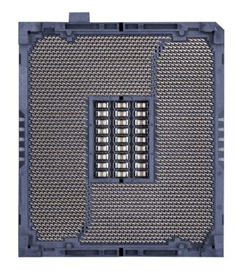 The CPU cannot be inserted if oriented incorrectly. (Or you may locate the notches on both sides of the CPU and alignment keys on the CPU socket.