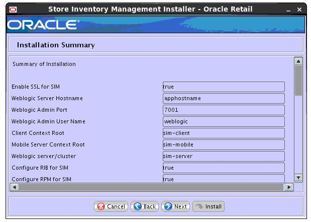 Oracle Retail Store Inventory Management Installation Guide Release