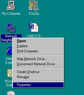 APPENDIX C Adding TCP\IP to Windows NT Right click on the network neighborhood icon and select