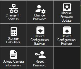 in the Device Manager window to Change IP address 1. Click the Change IP Address tool button to bring up the Device Activation / Change IP Address window. 2.