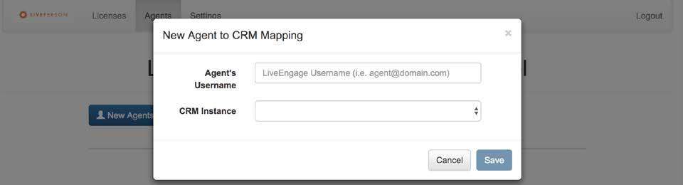 Agents and CRM Instances Mapping: This feature enables yu t assign an agent t CRM instances.