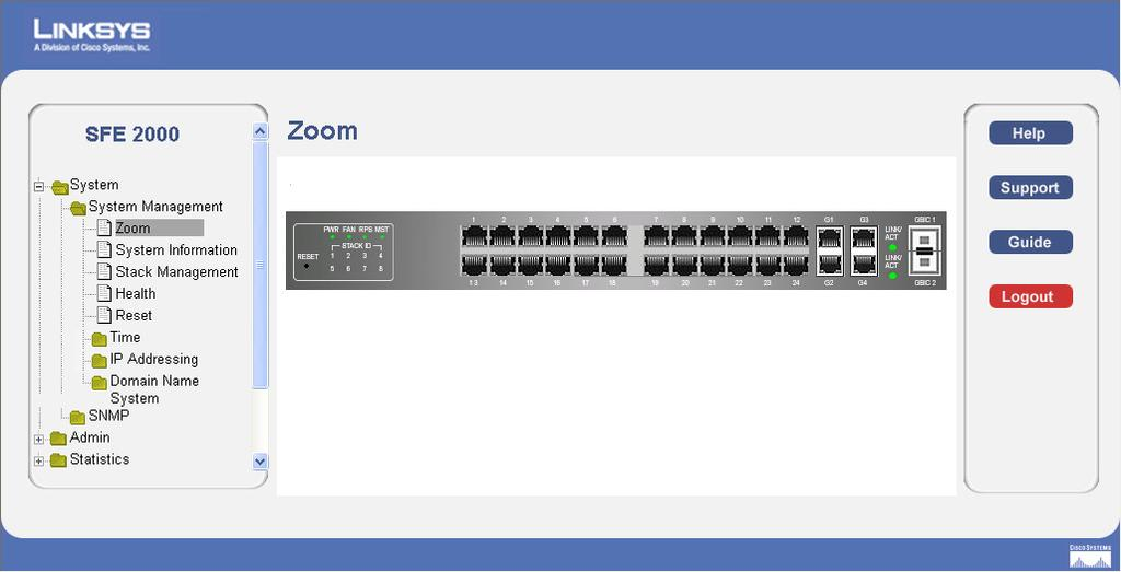 Web Utility Configuration 5 Overview The Linksys Switch provides a complete web-based utility to configure the Ethernet switch. This utility is accessible through your web browser.