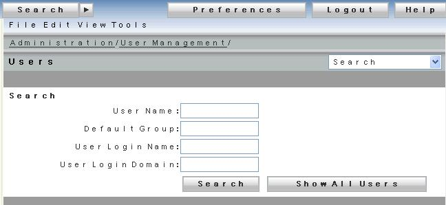 Configuring and Customizing Multi-Component Features Figure 24. User Interface of the Webtop Users page 6.