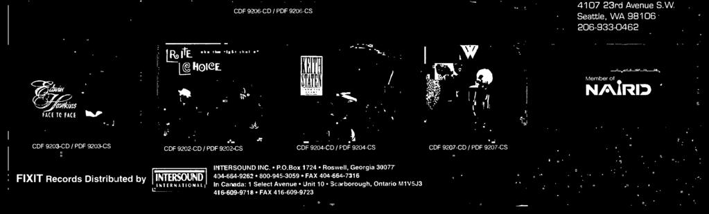 CDF 9207-CD / PDF 9207-CS FIXIT Records