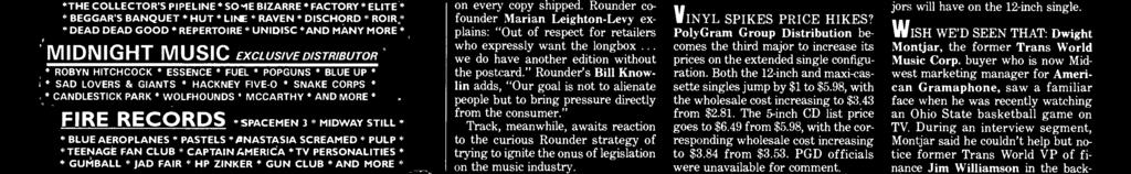 Rounder Records, despite its commitment to a cleaner environment, sells its [CDs] in this packaging, only because the U.S. record industry dictates that [CDs] are to be sold in this format.