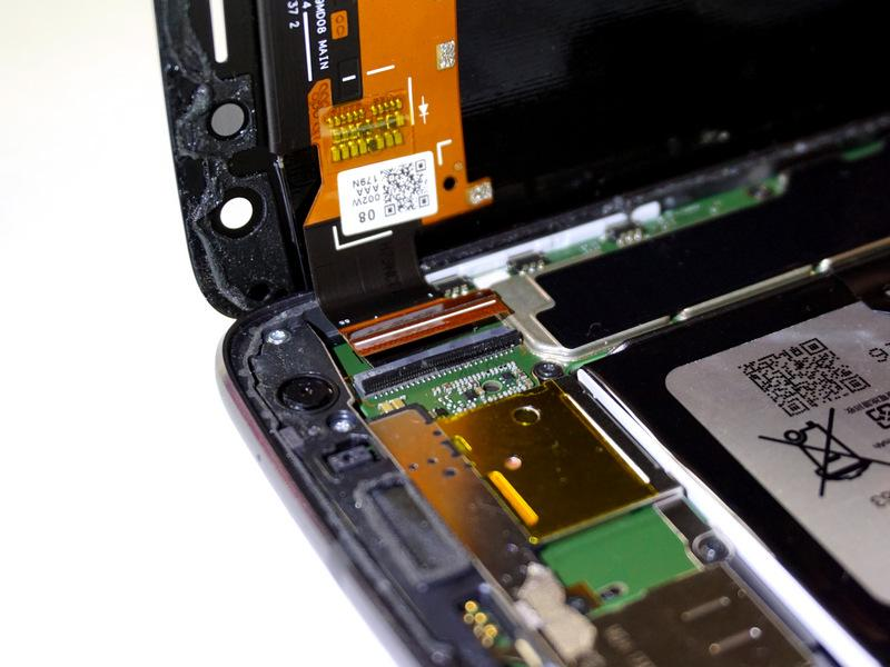 The locking bar is the small black bar located on the digitizer s