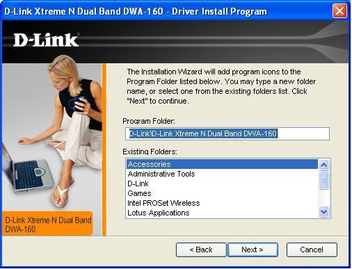 Files\D-Link\DWA-160, where C: represents the drive letter of your hard drive.