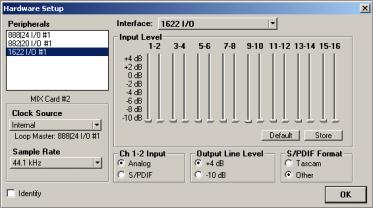 The I/O Setup dialog also lets you label and map Pro Tools input, output, insert, and bus signal paths.