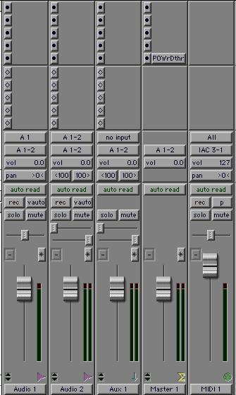 2 Specify the number of tracks, track type (Audio Track, Aux Input, Master Fader, or MIDI Track), and mono, stereo, or any of the supported multichannel formats for surround mixing (except for MIDI).