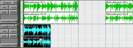 You can also lengthen a region using the trimmer tool if there is audio data beyond the current boundaries of a region.