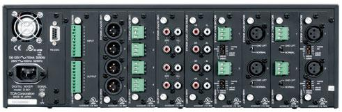 D-901 rear Monaural type Monaural type A/D Converter A/D Converter 20 20 bit bit 24 24 bit bit D-922F D-922F XLR Connector XLR Connector 2-Channel input module for mic 2-Channel and line inputs