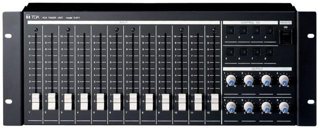 VCA Module VCA control (20 channels) + 8 inputs 8 outputs D-984VC By the VCA controls from external equipment, this module permits the D-901's gains of 12