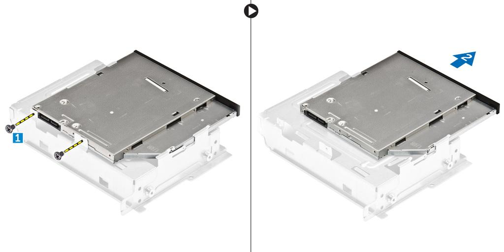 Figure 8. NOTE: Remove the optical-drive bracket only if you are replacing with a new optical drive.