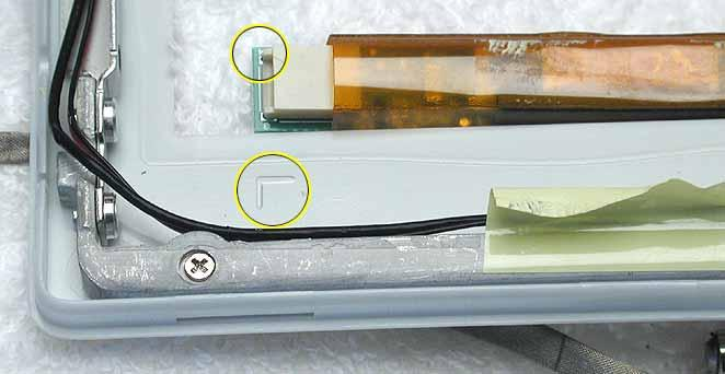 Use new double-sided tape when installing the replacement inverter board. 3.