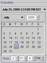 Scheduling NCM operations 173 A calendar window appears Figure 85. Figure 85 Calendar window 4 Select a day and time.