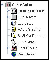 40 Client environment Figure 4 Expanding the Server Setup folder Items in the navigation pane can be individual items, for example, a specific networking interface, or they can be groups of other